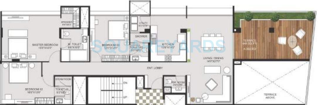 marvel crest apartment 3bhk 2530sqft 11059