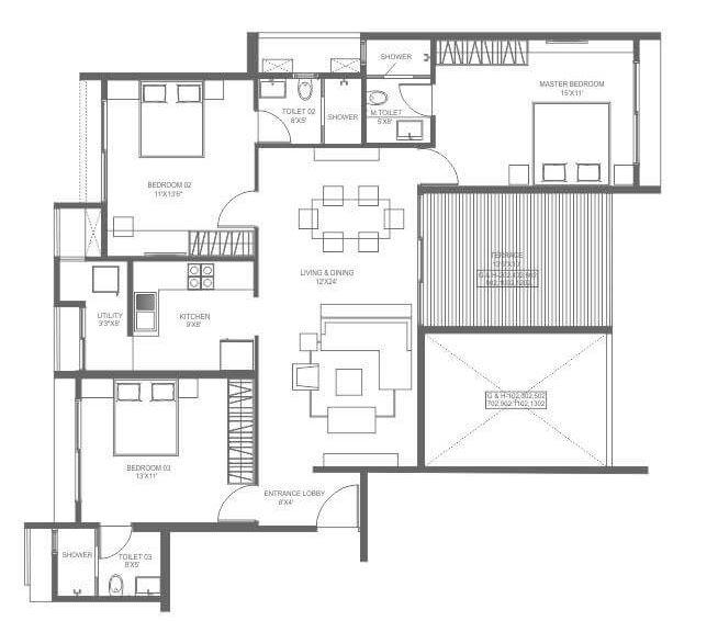 marvel ideal spacio phase 1 apartment 3 bhk 906sqft 20201521101500