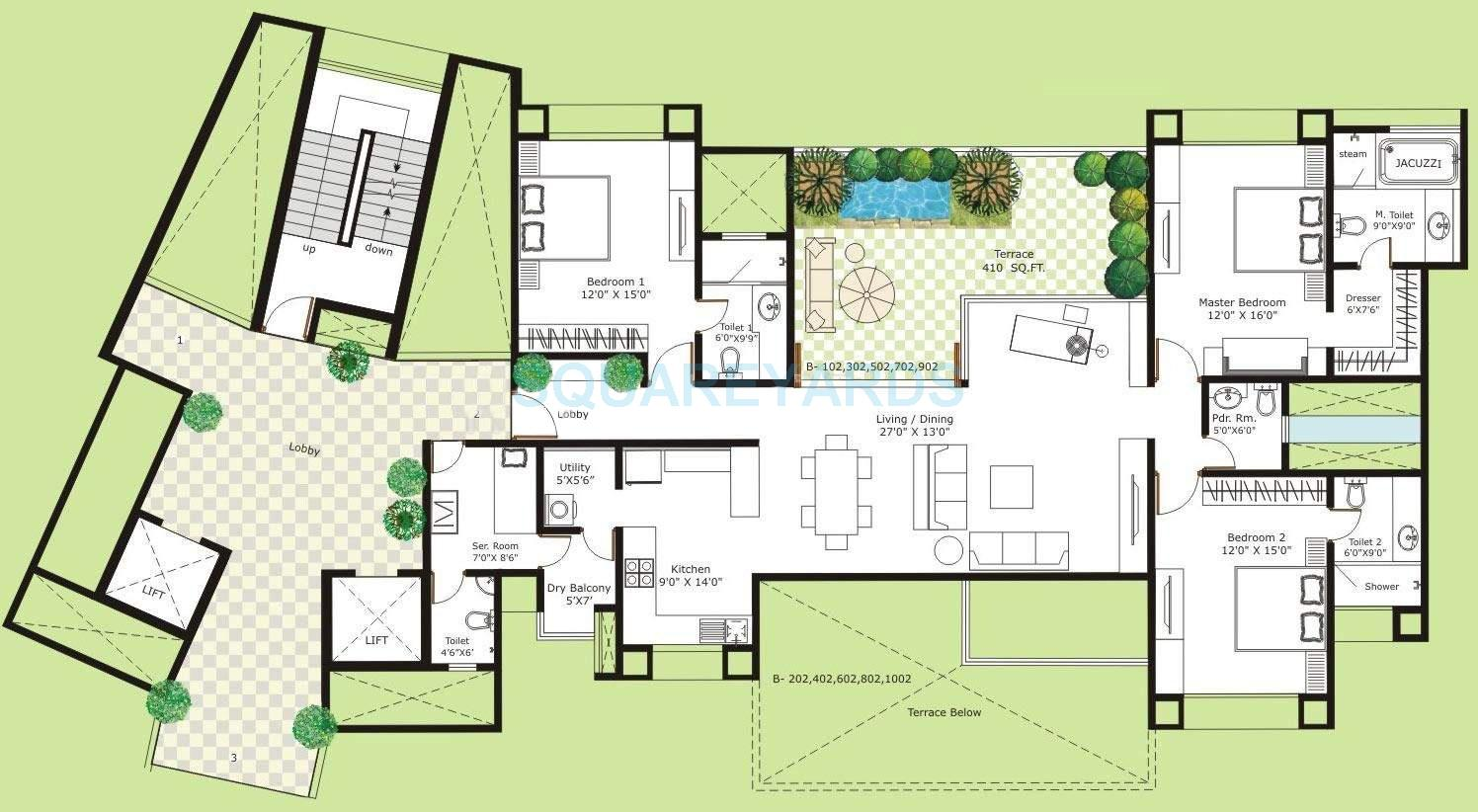 marvel isola apartment 3bhk 2360sqft 10745