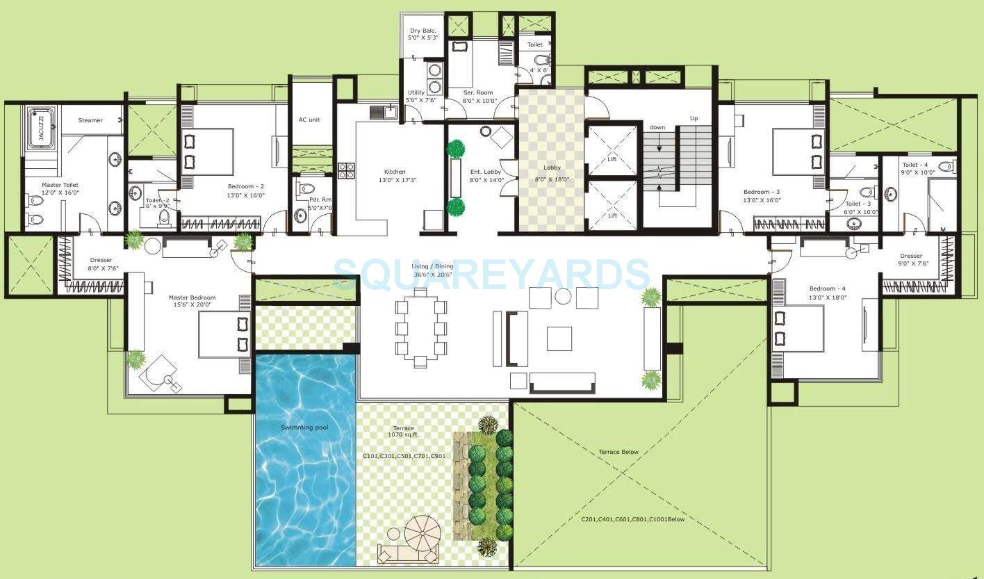 marvel isola apartment 4bhk 4260sqft 10747