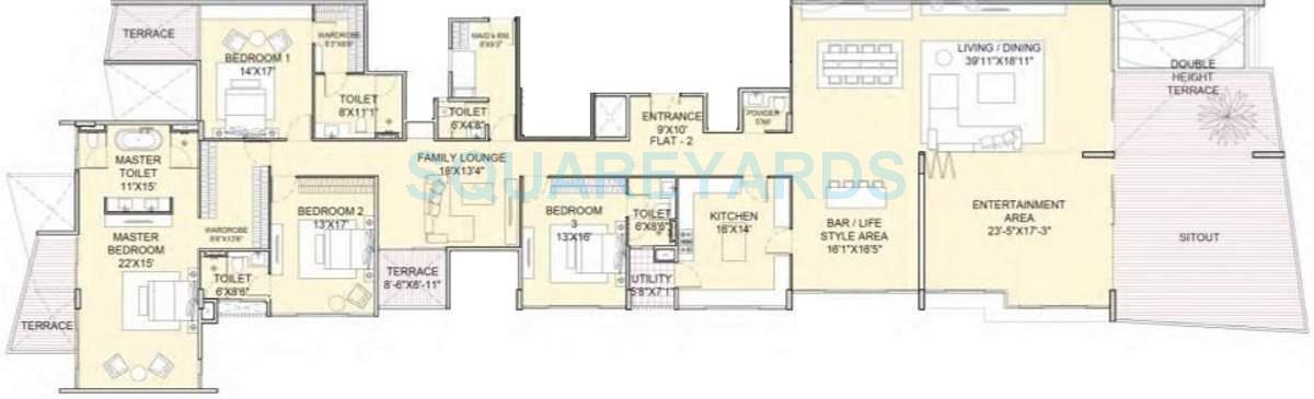 marvel ribera apartment 4bhk 6000sqft 11039