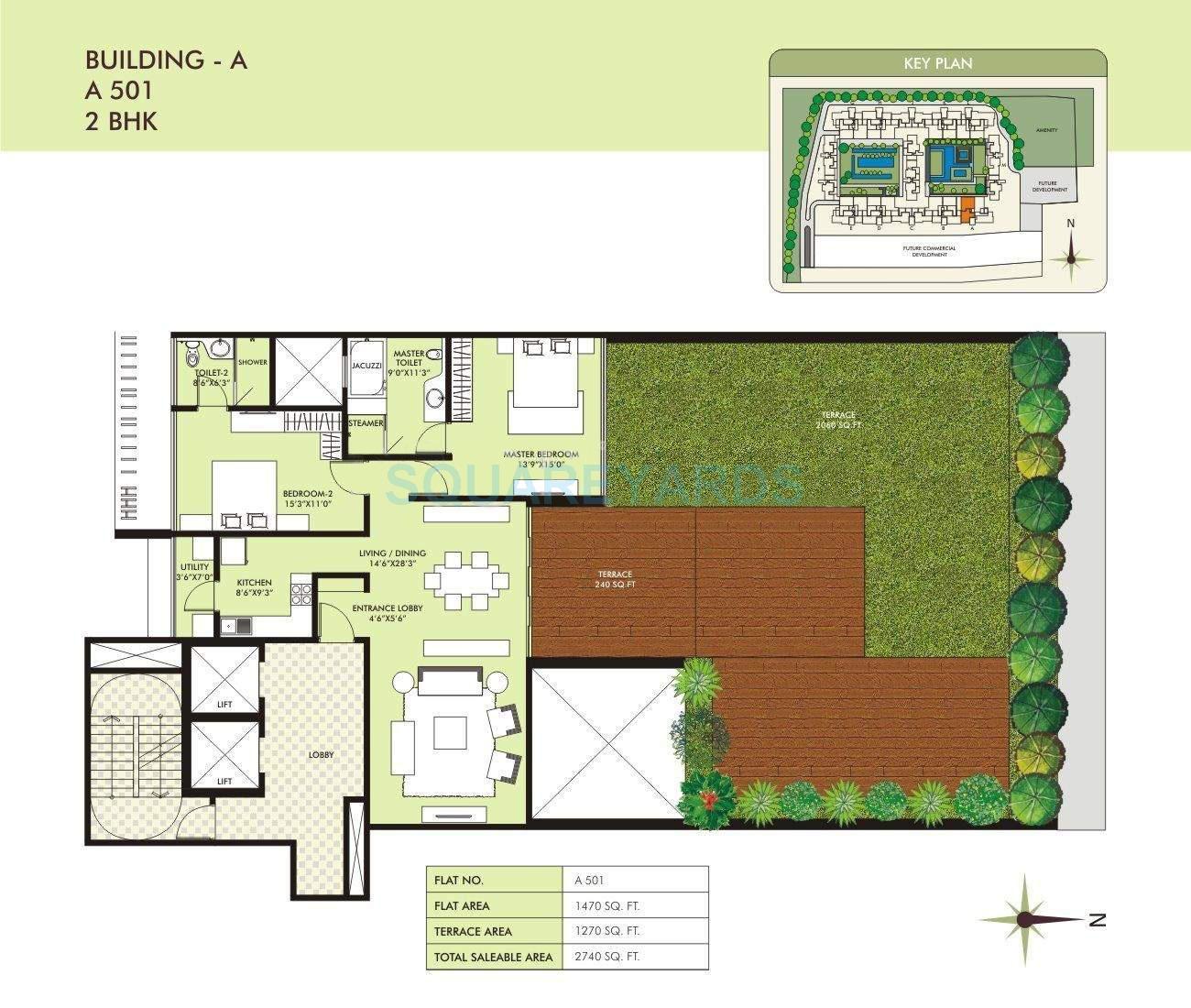 marvel sangria apartment 2bhk 2740sqft 10549
