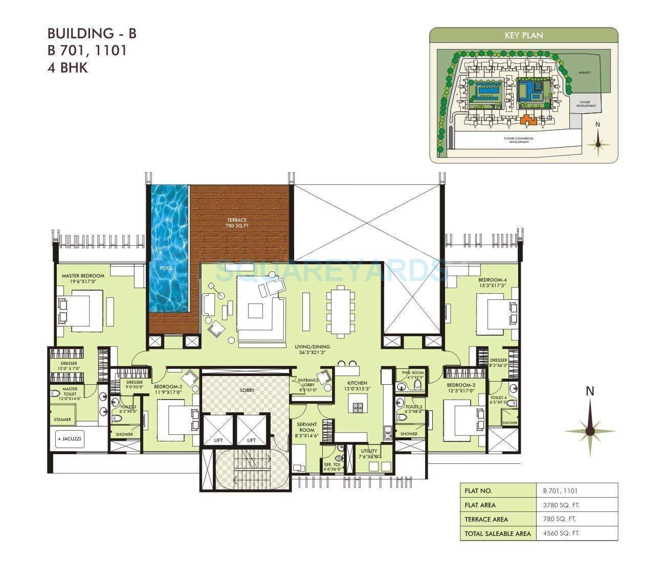 marvel sangria apartment 4bhk 4560sqft 10558