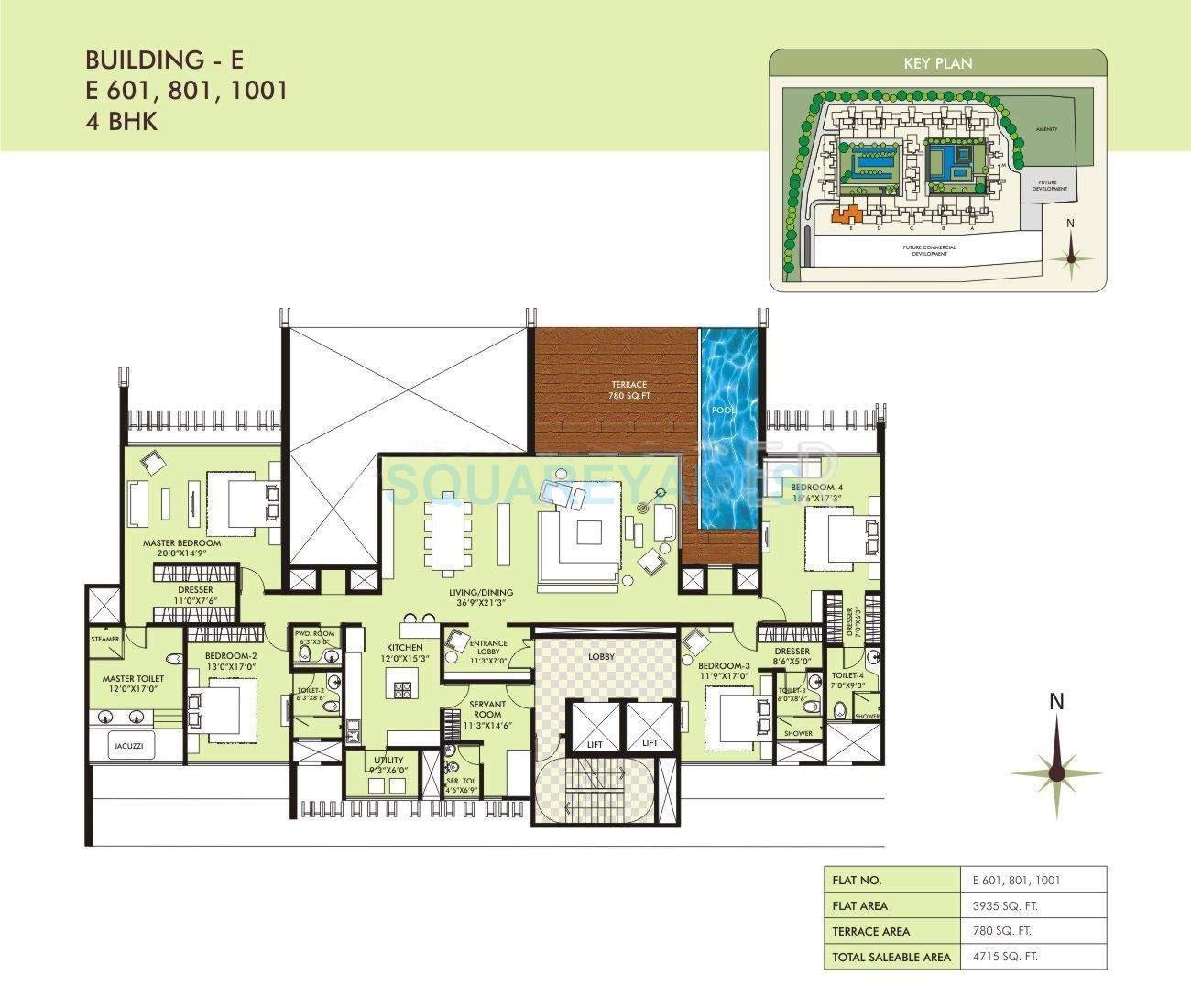 marvel sangria apartment 4bhk 4715sqft 10560