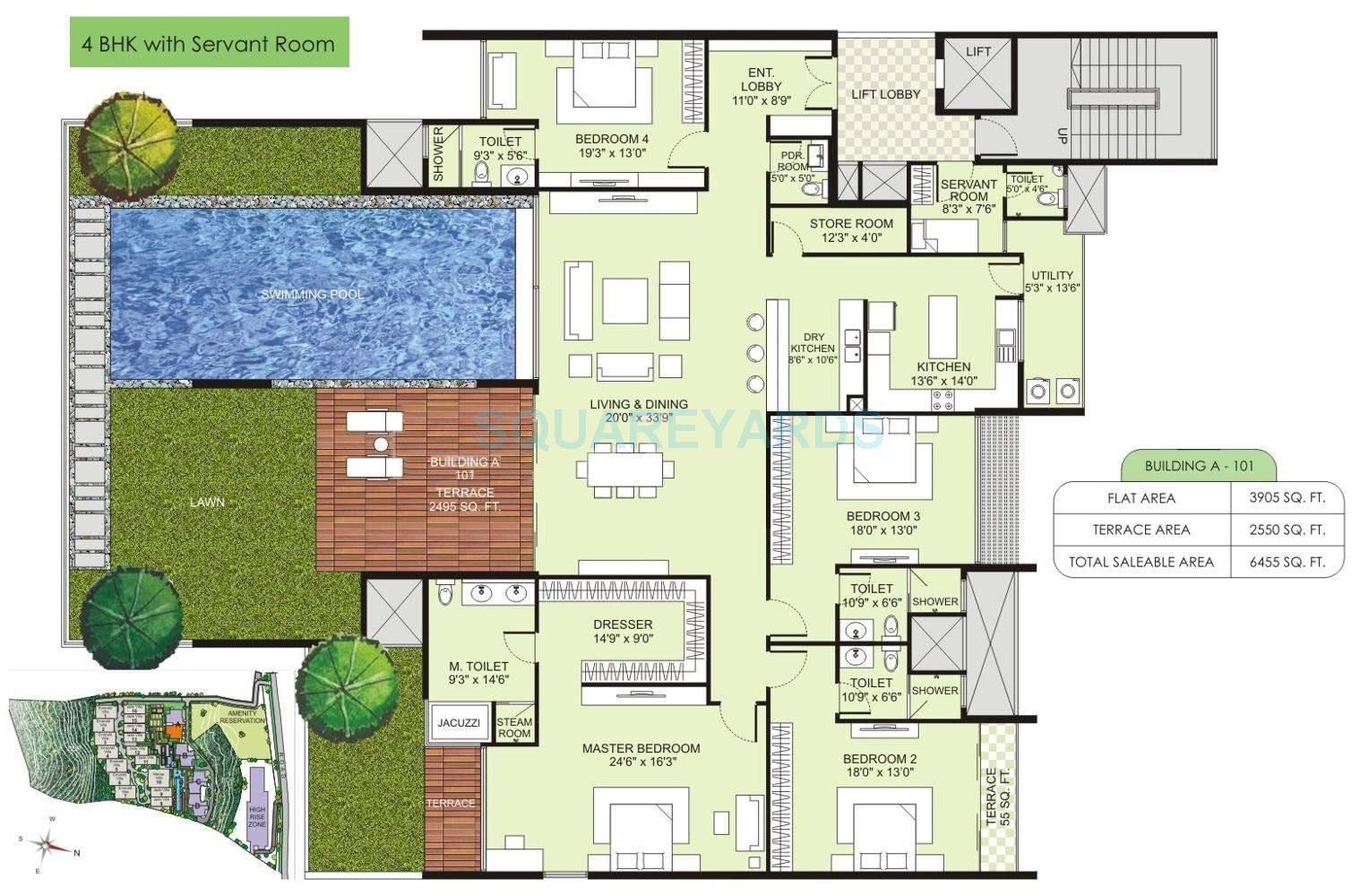 marvel selva ridge estate apartment 4bhk 6455sqft 10798