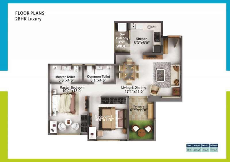mittal high mont apartment 1bhk 977sqft 1