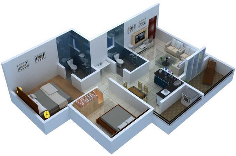 nandini orchid apartment 2 bhk 915sqft 20214819104848