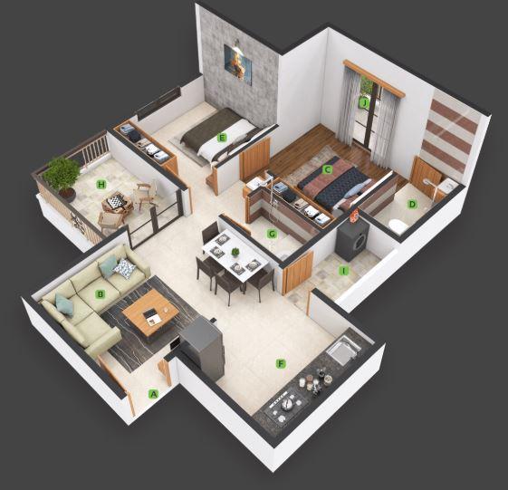 nexus gulmohar apartment 2bhk 360sqft21