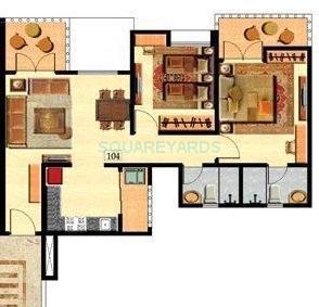 nyati ebony garden apartment 2bhk 1064sqft 1