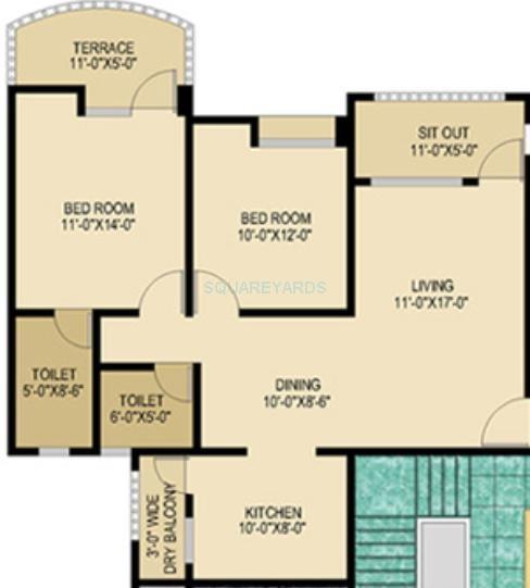 nyati enclave apartment 2bhk 1045sqft 1