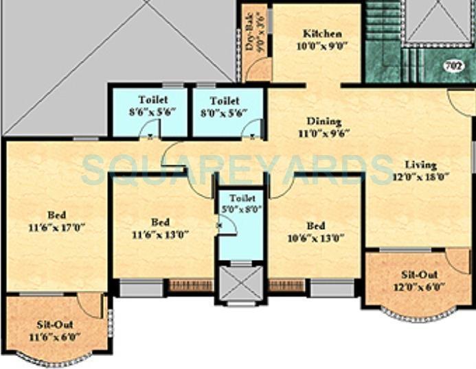 nyati enclave apartment 3bhk 1566sqft 1