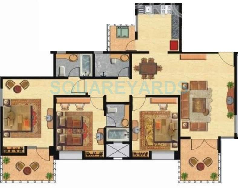 nyati environ apartment 3bhk 1500sqft 11589