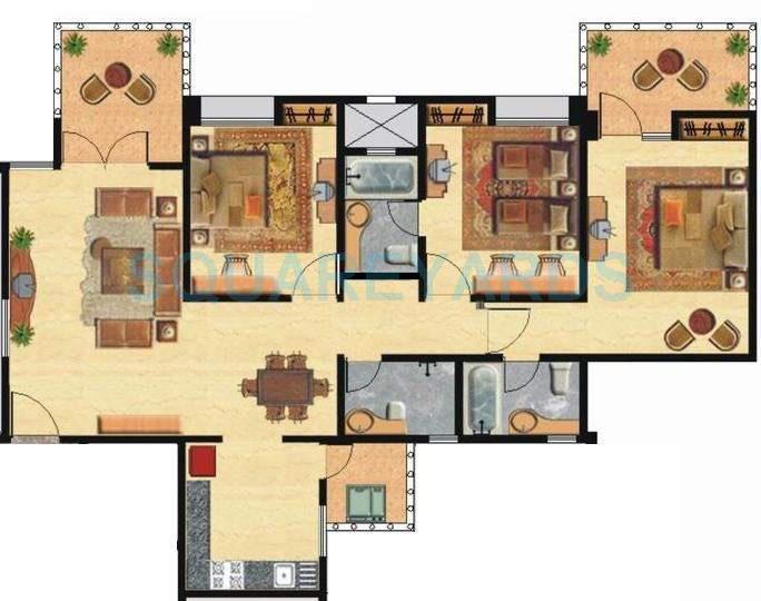 nyati environ apartment 3bhk 1595sqft 11590