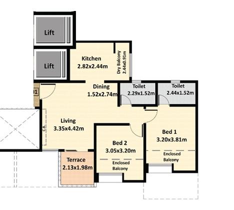 nyati erica apartment 2 bhk 563sqft 20202027162043