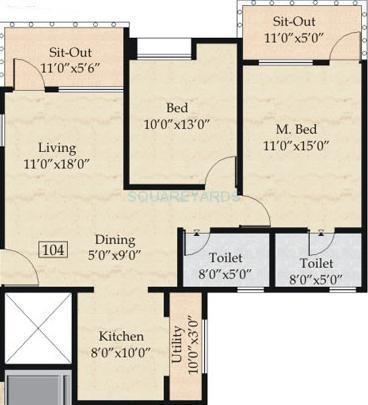 nyati esplanade apartment 2bhk 1037sqft 1