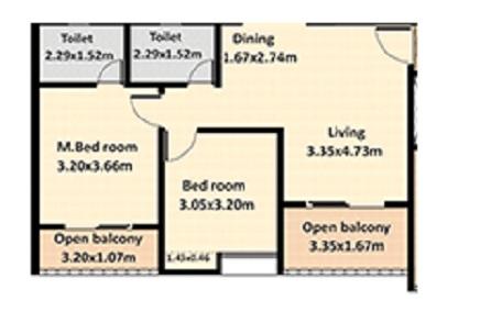 nyati evolve 1 apartment 2 bhk 675sqft 20204928104917