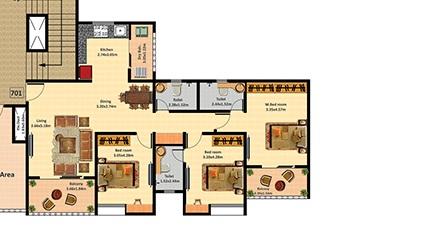 nyati evolve 1 apartment 3 bhk 1077sqft 20205228105247