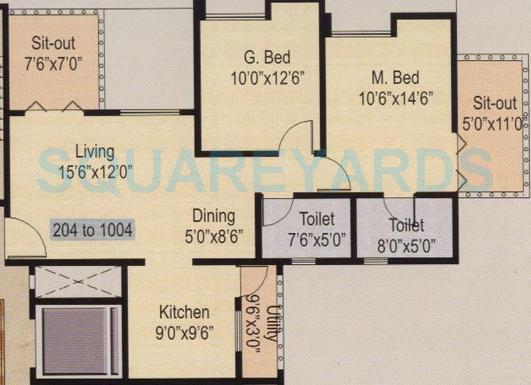 nyati iris apartment 2bhk 1204sqft 1