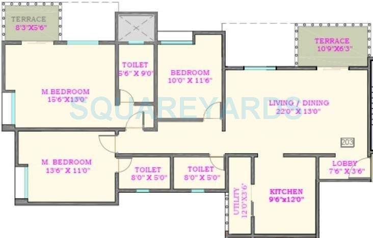 nyati nyati elysia apartment 3bhk 1799sqft 10028
