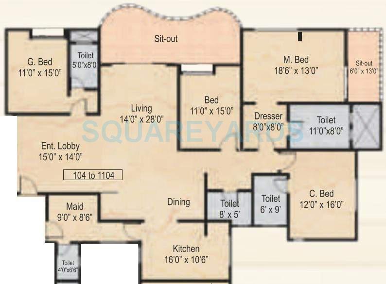 nyati wind chimes apartment 4bhk 3200sqft 11212