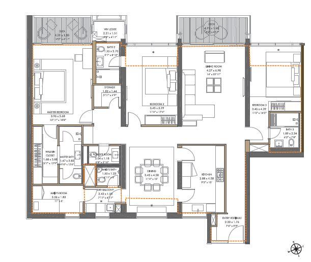 panchshil towers apartment 3bhk st 1857sqft61