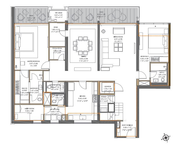panchshil towers penthouse 5bhk st 4603sqft81