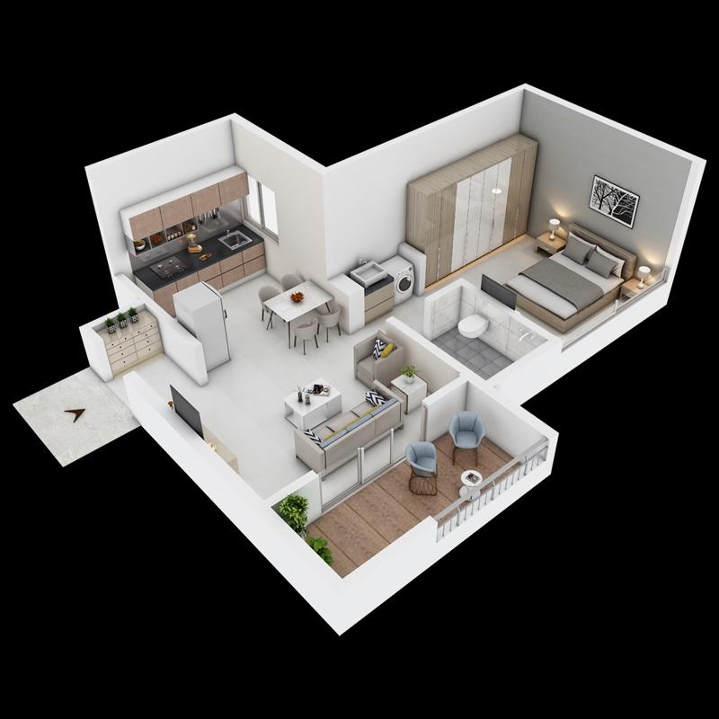 paranjape azure aster g and h apartment 1 bhk 423sqft 20210802170810