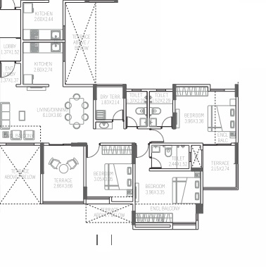 paranjape azure aster g and h apartment 3bhk 870sqft51