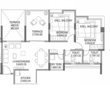paranjape azure b apartment 2bhk 508sqft71