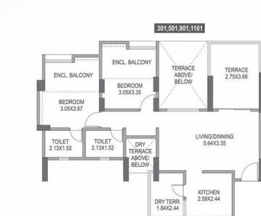 paranjape azure b apartment 2bhk 540sqft71