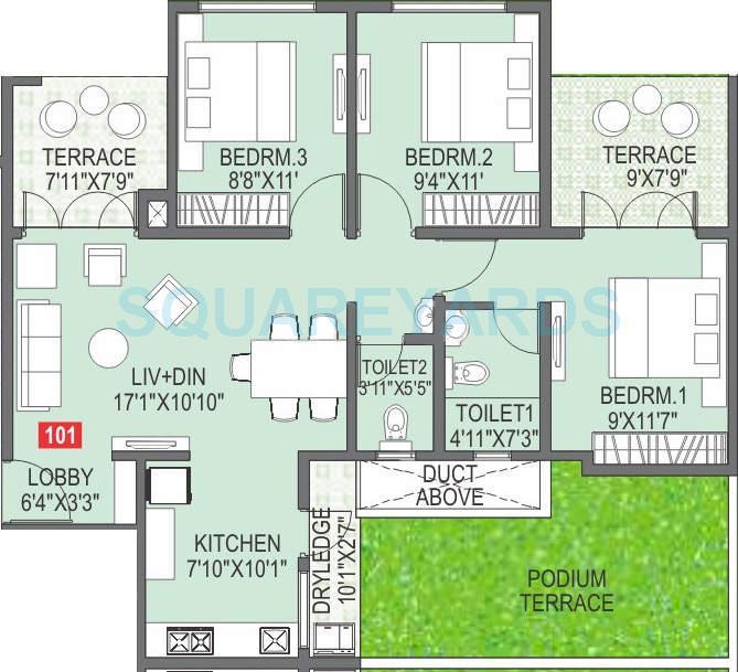 paranjape schemes abhiruchi parisar apartment 2bhk 979sqft 10340