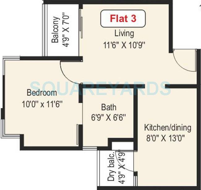 paranjape schemes athashri xion apartment 1bhk 623sqft 9744