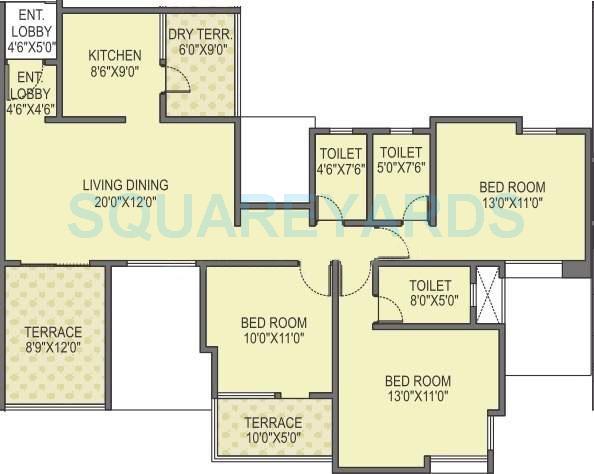 paranjape schemes azure apartment 3 bhk 1521sqft 20200522180524