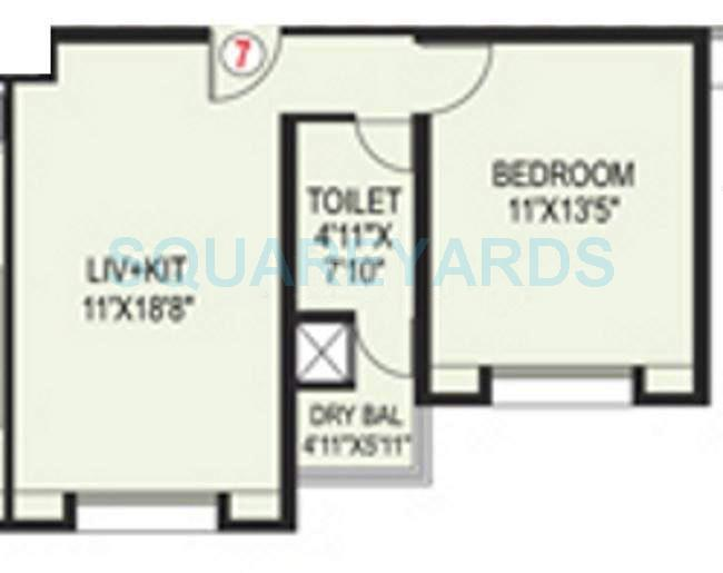 paranjape schemes blue ridge apartment 1bhk 798sqft 10033