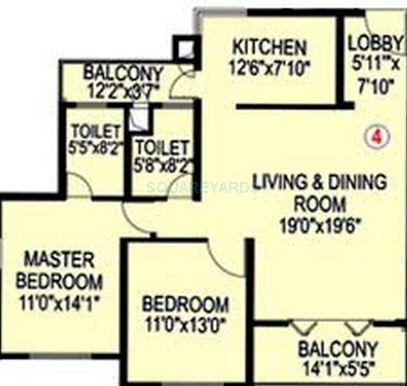 paranjape schemes blue ridge apartment 2 bhk 1130sqft 20201327101354