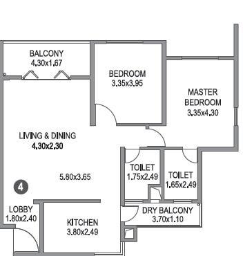 paranjape schemes blue ridge apartment 2bhk 1050sqft 1