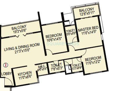 paranjape schemes blue ridge apartment 3bhk 1815sqft1