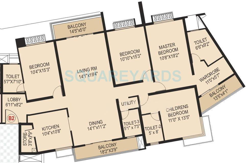 paranjape schemes blue ridge apartment 4bhk 2551sqft 10040