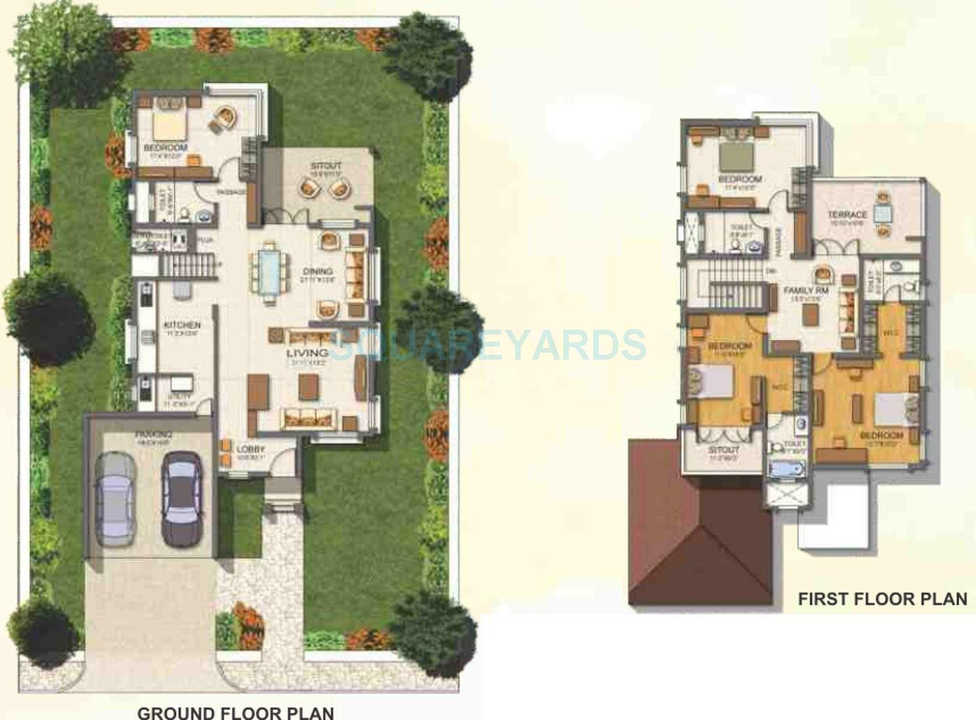 paranjape schemes crescent villa 4bhk 2225sqft 10854
