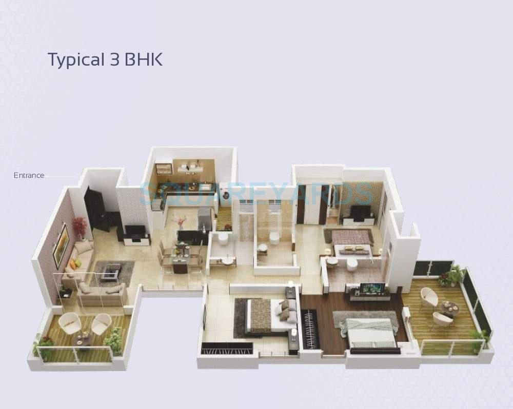 paranjape schemes crystal towers apartment 3bhk 1568sqft 10335