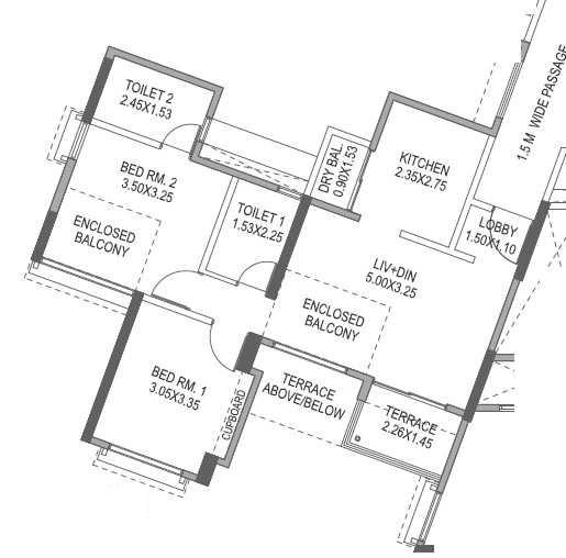 paranjape schemes forest trails apartment 2 bhk 598sqft 20215505125544