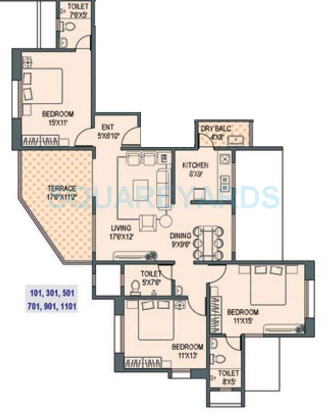paranjape schemes gloria grace apartment 3bhk 1651sqft 11391