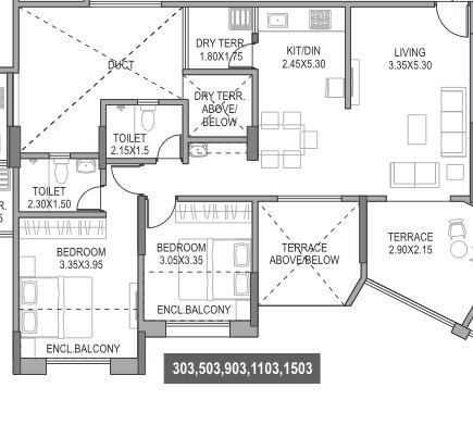 paranjape schemes gloria grand apartment 2bhk 887sqft41