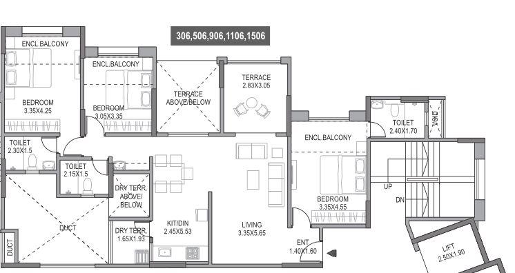 paranjape schemes gloria grand apartment 3 bhk 1444sqft 20201827111830