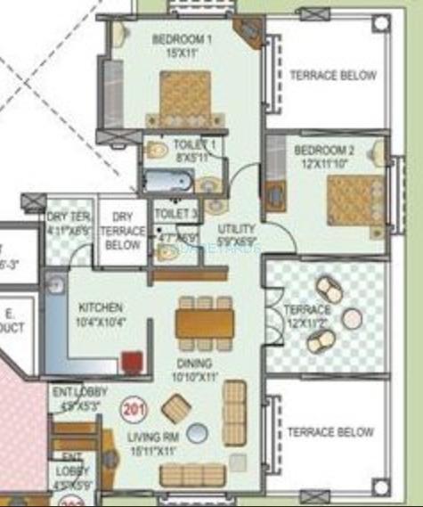 paranjape schemes la cresta apartment 2bhk 890sqft 20200219190212