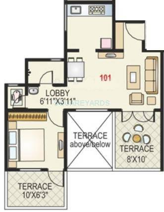 paranjape schemes madhukosh apartment 1bhk 525sqft 11743