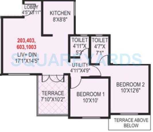 paranjape schemes madhukosh apartment 2bhk 717sqft 11746