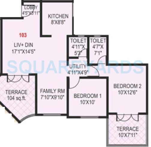 paranjape schemes madhukosh apartment 2bhk 901sqft 11747