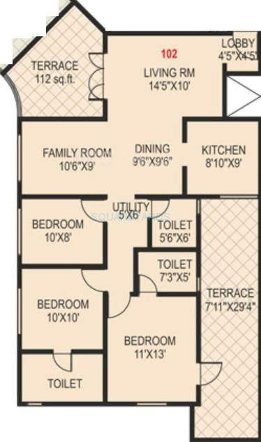 paranjape schemes madhukosh apartment 3bhk 1339sqft 11751