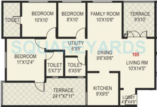 paranjape schemes madhukosh apartment 3bhk 1362sqft 11752